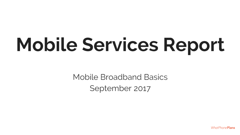 WhatPhone.com.au conducted a survey of 500 Australian phone users in late August 2017. These are the results relating to Mobile Broadband Services.