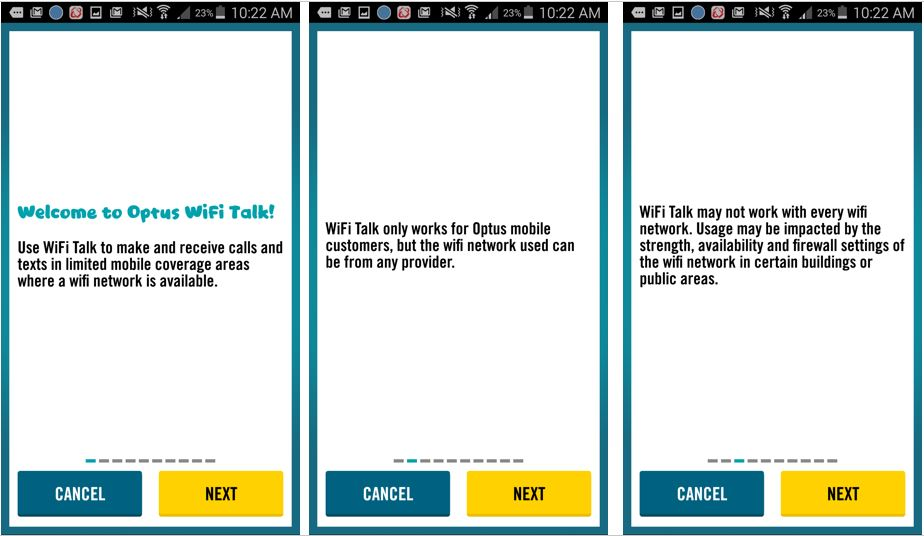 These are the steps you need to follow, to install the Optus WiFi Calling App