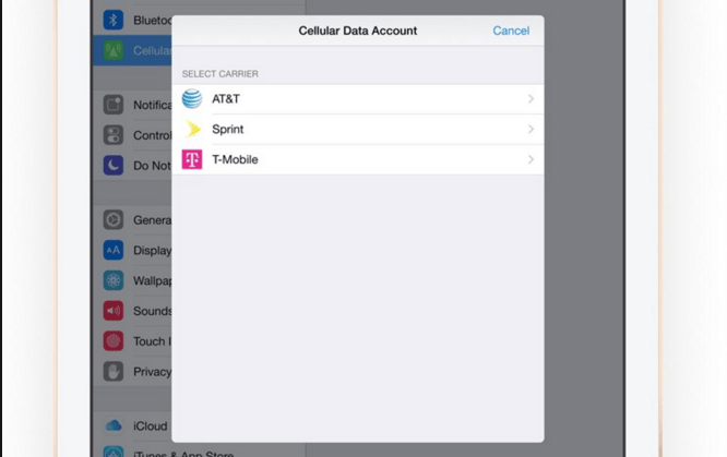 The first step in using the eSIM is to pick the phone company you want from Apple settings