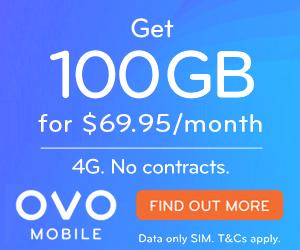 OVO Big Data 100GB $69.95 per month