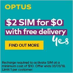 Optus $2 SIM for $0