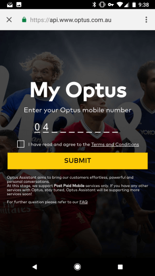 Linking your Optus account to Google